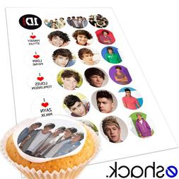 Cakeshop 24 x One Direction 1 Direction 1D Edible Cake Toppe