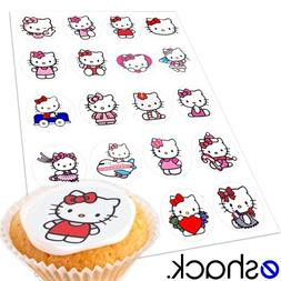 Cakeshop 20 x Hello Kitty Edible Cake Toppers
