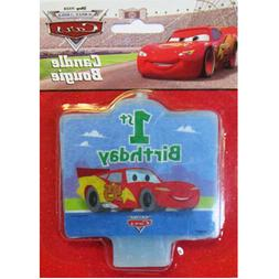 CARS 1st BIRTHDAY CAKE CANDLE ~ First Party Supplies Cake De