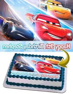 Cars 3 Disney Pixar Personalized Cake Toppers Icing Sugar Pa