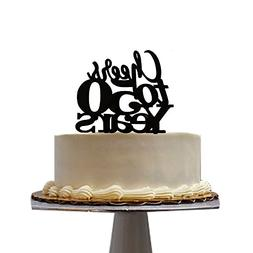 All About Details Cheers to 50 Years! Cake Topper, 1pc, Birt