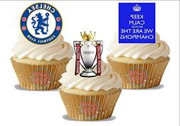 Chelsea Champions League Soccer Trio Pack - 12 Standup Edibl