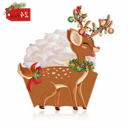 Christmas Cupcake Toppers & Wrappers 24Pack Cake Decoration