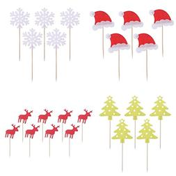 Christmas Cupcake Toppers Tinksky Christmas Cake Decorations
