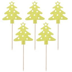 Tinksky 10pcs Christmas Tree Cake Cupcake Decorations Topper
