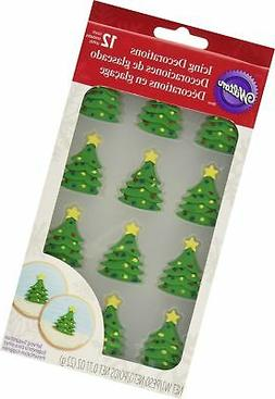 Wilton 710-3468 12 Count Christmas Tree Royal Icing Decorati
