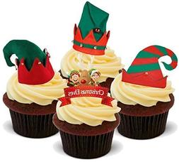 Christmas Xmas Elf Mix with Hats - Fun Novelty PREMIUM STAND