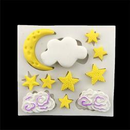 Cloud Star Moon Silicone Fondant Mold Cake Decor Tools Choco