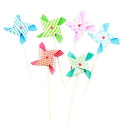 Tinksky 6pcs Colorful Assorted Mini Windmill Cake Cupcake To