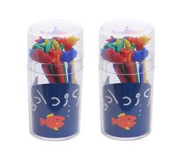MXY Colorful Food & Fruit Picks for Bento Box Cake Snack For