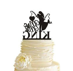 Couple Fishing Wedding Cake Topper Personalized Last Name En