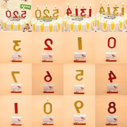 Creative Birthday Candles Cake Topper 0-9 Numbers Cake Decor