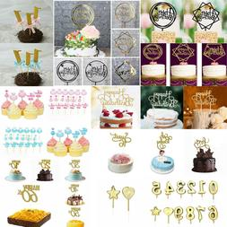 4pcs Toppers Cake Creative Portable Cupcake Decoration Toppers For Celebration Festivals Holiday Birthday Cake Decorating Supplies