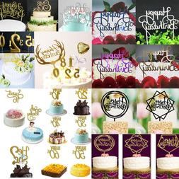 Creative Happy Birthday Number 0-9 Cake Candles Topper Decor