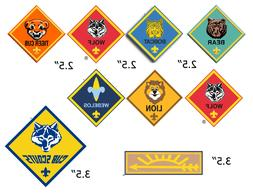 Cub Scout Ranks EDIBLE Cake Stickers Decals Cupcakes, Cub Sc