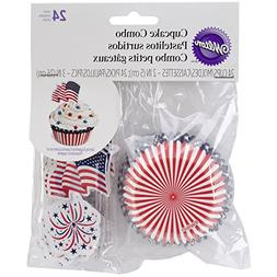 Cupcake Combo Pack-Red, White, and Blue 24/Pkg