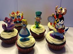 Alice In Wonderland Cupcake Toppers/Cupcake Party Favor Deco