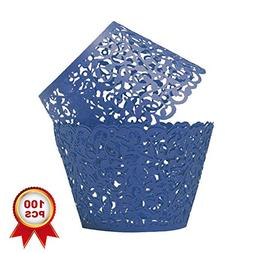 SUYEPER 100pcs Cupcake Wrappers Artistic Bake Cake Paper Cup