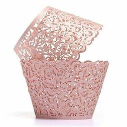 Tinksky Cupcake Wrappers Laser Cut Wrap Case Decor Wedding S