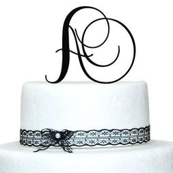 Custom - 5 inch Monogram Acrylic Cake Topper in Any Letter A