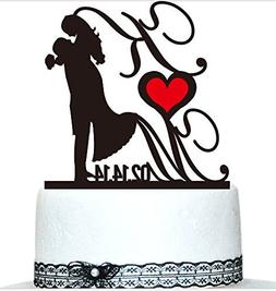 Buythrow Custom Cake Topper,wedding Gift Cake Tooper, Person