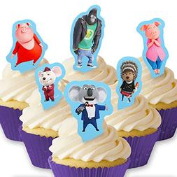 Cakeshop 12 x PRE-CUT Sing Stand Up Edible Cake Toppers