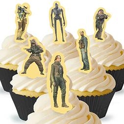 Cakeshop 12 x PRE-CUT Star Wars Rogue One 1 Stand Up Edible