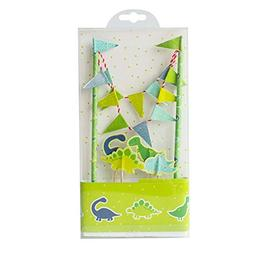 Cute Animals Zoo Dinosaur Cake Bunting Toppers Flag Banner P