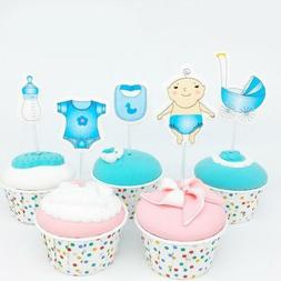 Cute Cupcake Toppers for Baby Shower It's a Boy Kids Party C