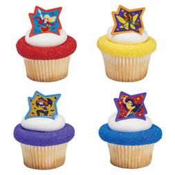 DC Super Hero Girls Just Be Awesome! Cupcake Rings - 24 pc