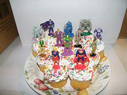 Superman Deluxe Cake Toppers Cupcake Decorations Set of 13 F