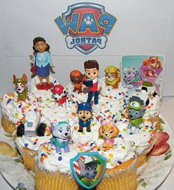 Paw Patrol Deluxe Mini Cake Toppers Cupcake Decorations Set