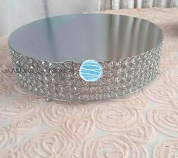 Designer Crystal Stainless Steel Cake Stand - 18 x 5.5 Inch