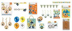 Despicable Me 3 Minion Party Supplies Decorations Kit and Ac