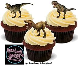 12 x Dinosaur T Rex Mix - Fun Novelty Birthday PREMIUM STAND