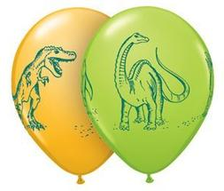 "Qualatex 11"" Dinosaurs In Action Assortment Latex Balloons B"