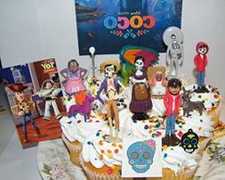 Disney Coco Movie Deluxe Cake Toppers Cupcake Decorations Se