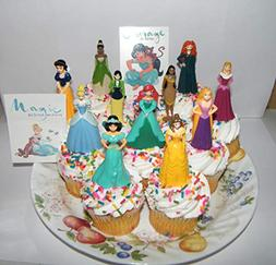 Disney Princess Deluxe Cake Toppers Cupcake Decorations Set