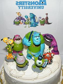 Disney Monsters Inc Deluxe Mini Cake Toppers Cupcake Decorat