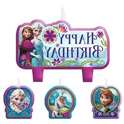 Disney Frozen Birthday Candle Set Assorted Size Party Decora