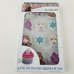 Disney Frozen II 2 Icing Decorations 12 Pack for Cupcakes Tr