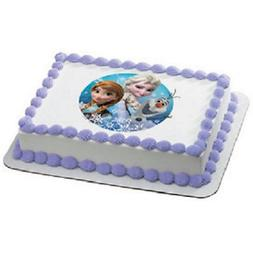 Disney's Frozen Olaf, Anna, and Elsa Edible Icing Image Cake