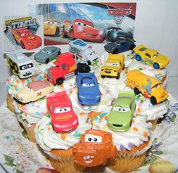 Disney Pixar Cars 3 Movie Deluxe Cake Toppers Cupcake Decora