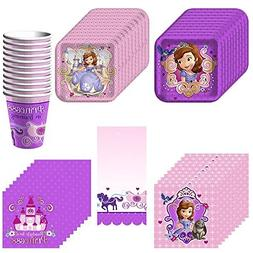 Disney Junior Sofia the First Deluxe Party Supply Pack Inclu