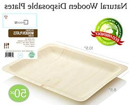 Disposable Wooden Plates All Natural Eco