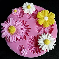 DIY 3D Flower Silicone Mold Fondant Cake Decorating Chocolat
