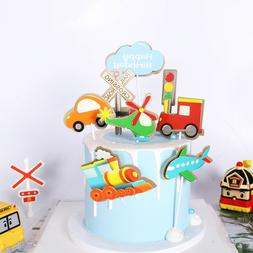 DIY Birthday Transportation Theme Cake Decoration Train Plan