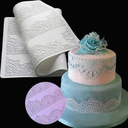 DIY Fondant Decor Silicone Material Lace Cake Mold Baking Ch