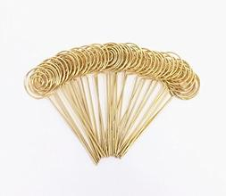 Honbay 30pcs DIY Gold Round Shape Ring Loop Craft Wire Clip
