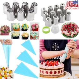 DIY Russian Tulip Flower Cake Icing Piping Nozzles Decoratin